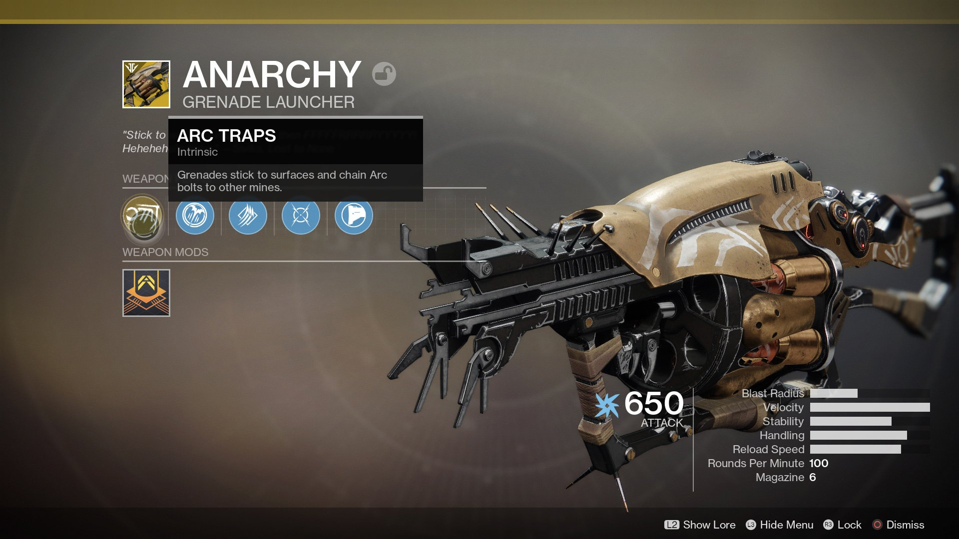 How to get the Anarchy Exotic grenade launcher in Destiny 2