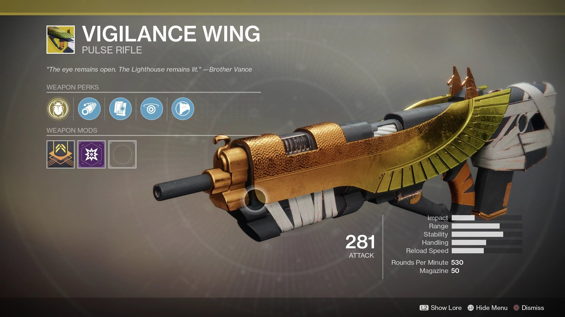 During the week of January 18, you can purchase a Vigilance Wing Exotic pulse rifle from Xur for 29 Legendary Shards.