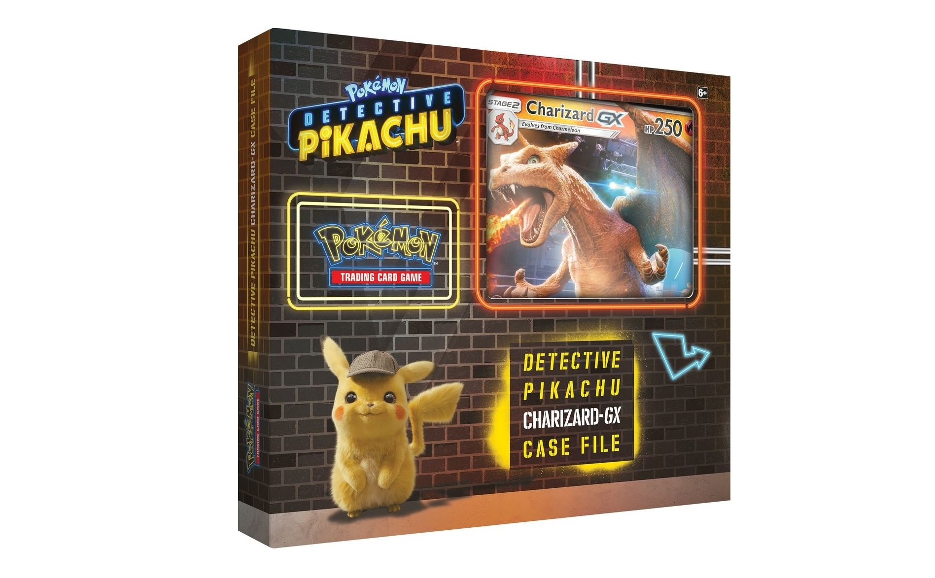 An exclusive Detective Pikachu trading card set will release this April. © The Pokémon Company