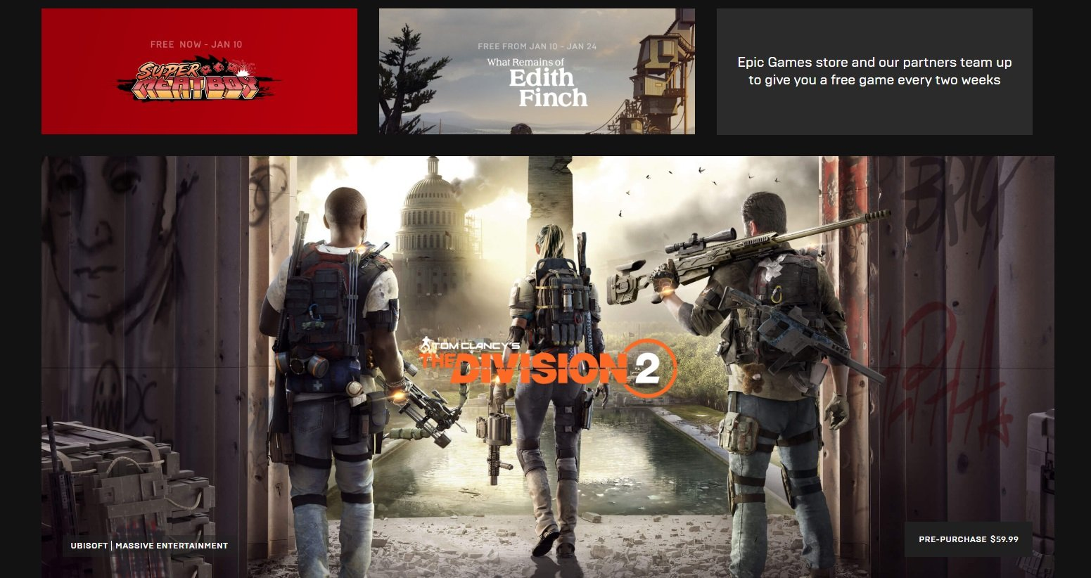 Tom Clancy's The Division 2 on the Epic Games Store