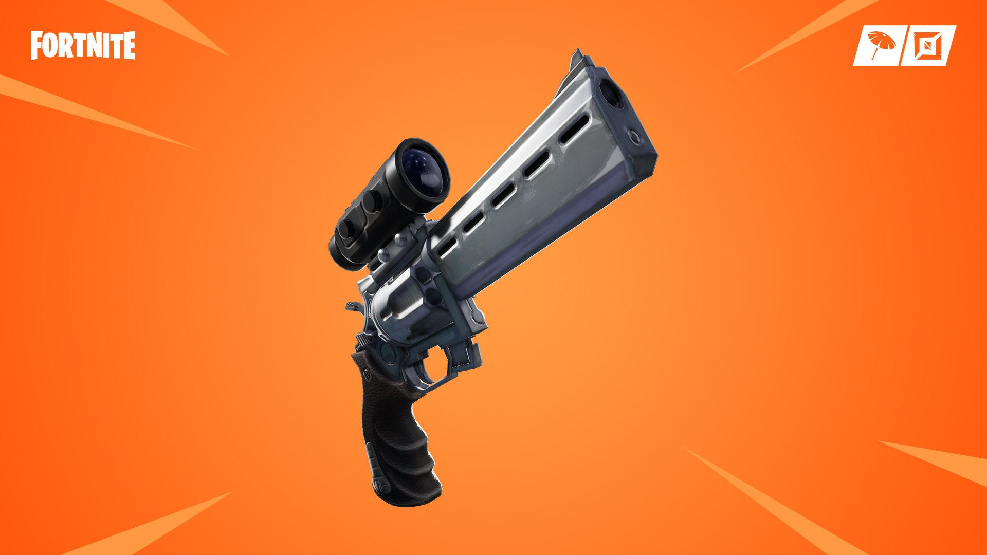 Update v7.20 adds a brand new weapon to Fortnite, the Scoped Revolver.