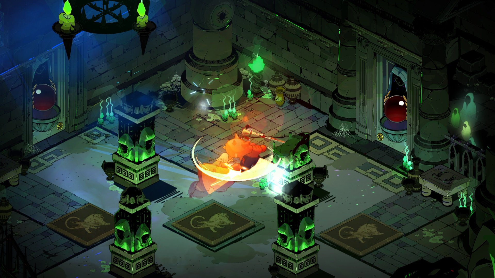 Supergiant applied various different concept from previous games like Bastion, Transistor, and Pyre into Hades.