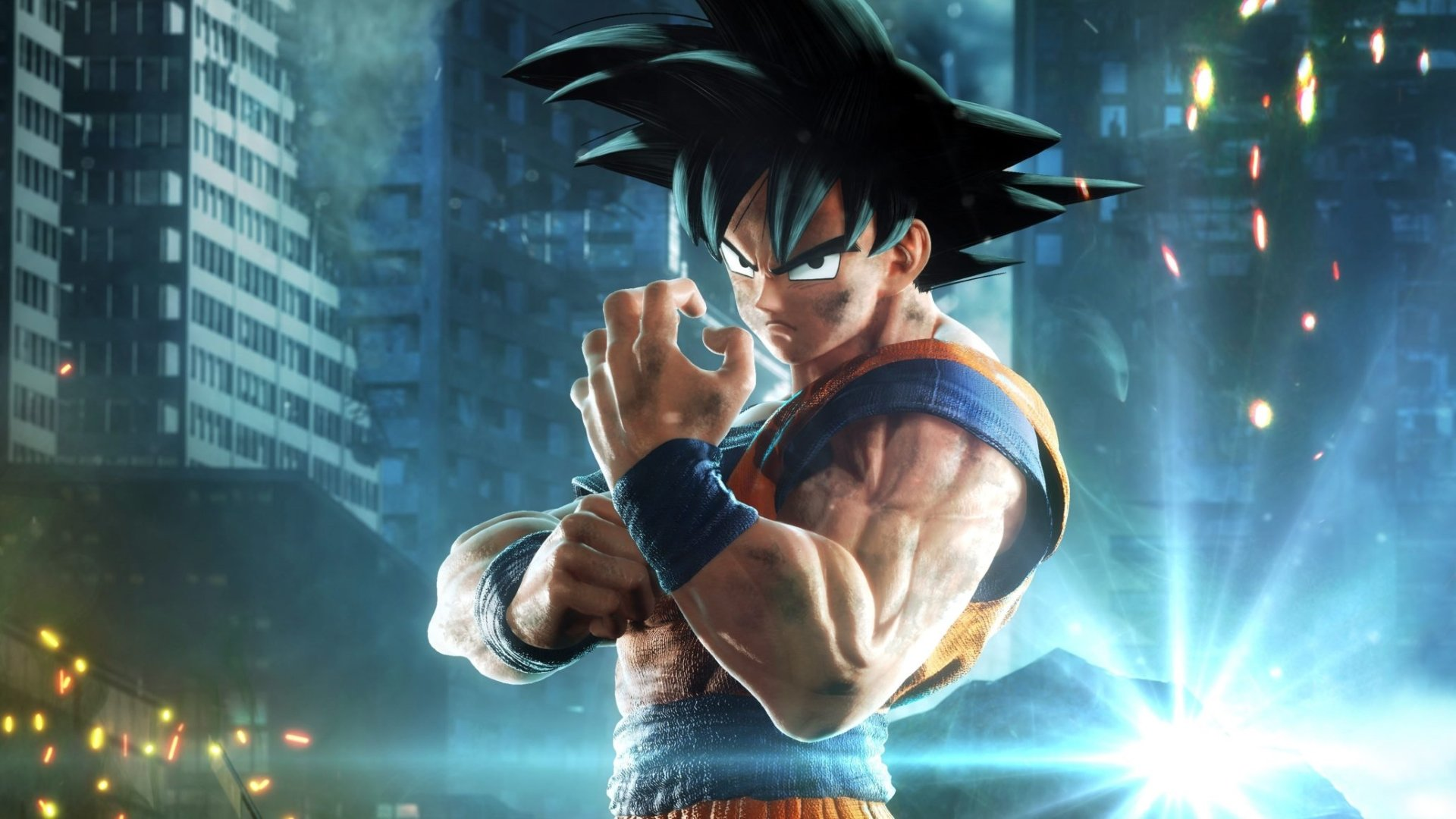 Goku prepares for a fight - Jump Force Confirmed Character Roster