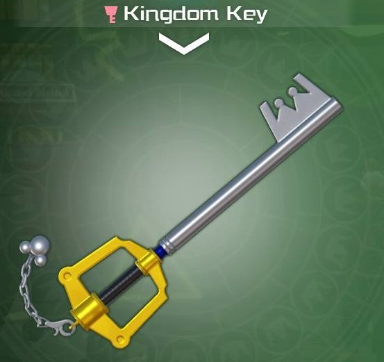The Kingdom Key from Kingdom Hearts 3.