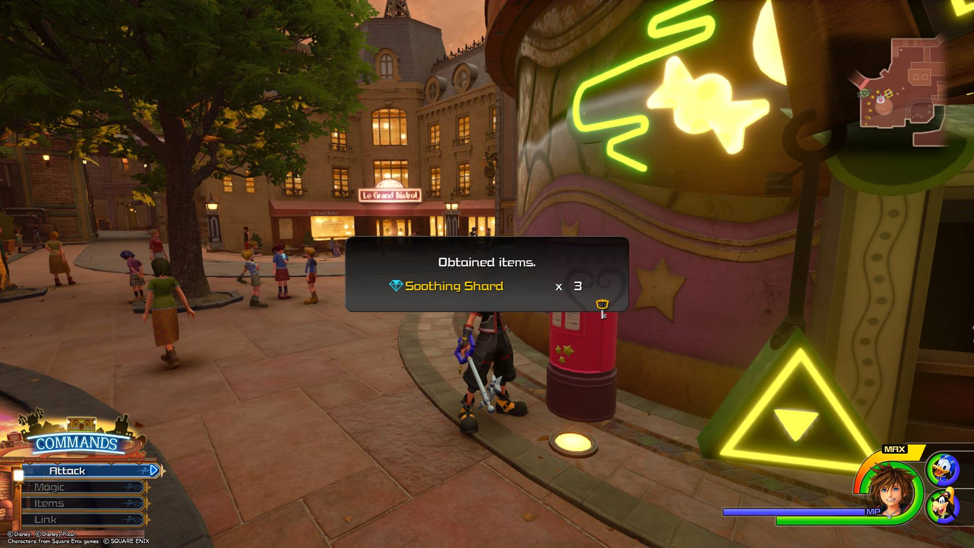 You'll receive rewards for mailing Postcards in Kingdom Hearts 3.