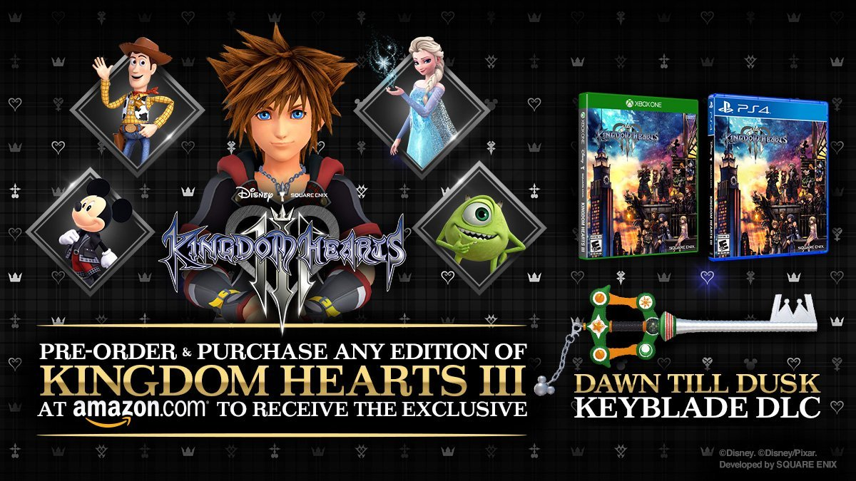 Gamers who pre-ordered a copy of Kingdom Hearts 3 will receive a special keyblade.