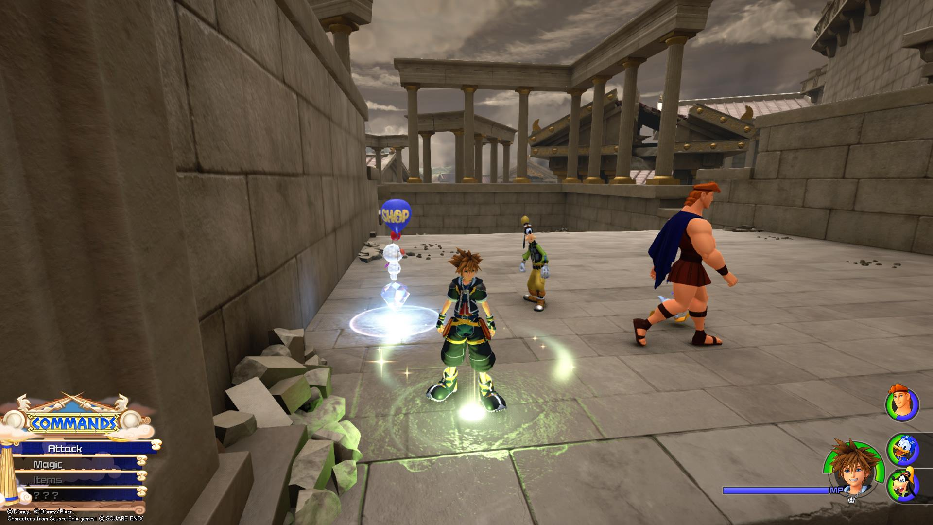 To save the game in Kingdom Hearts 3, you'll want to find and interact with save points.