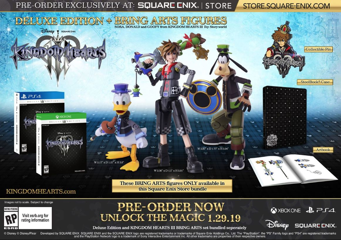 The special Deluxe Edition of Kingdom Hearts 3 can only be pre-ordered on the Square Enix website.