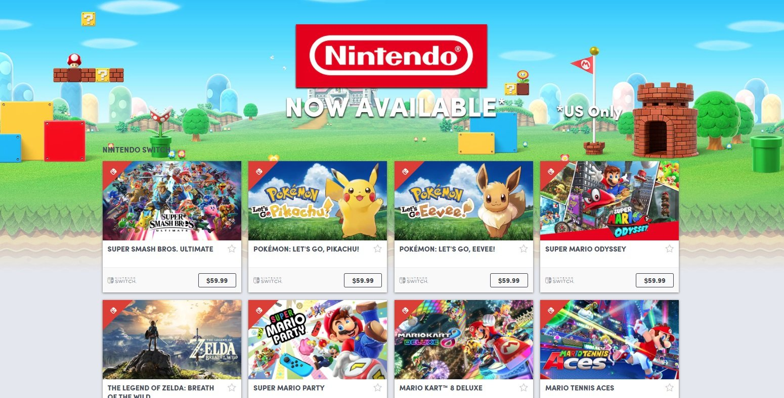 Nintendo games on the Humble Bundle store