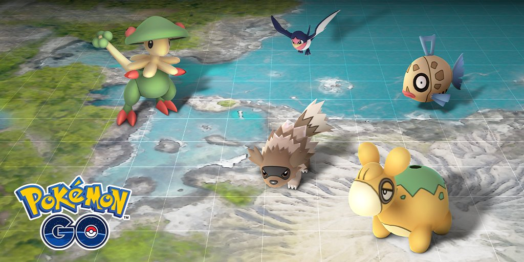 During the Hoenn event, Pokemon from the Hoenn region will spawn more frequently in Pokemon GO.