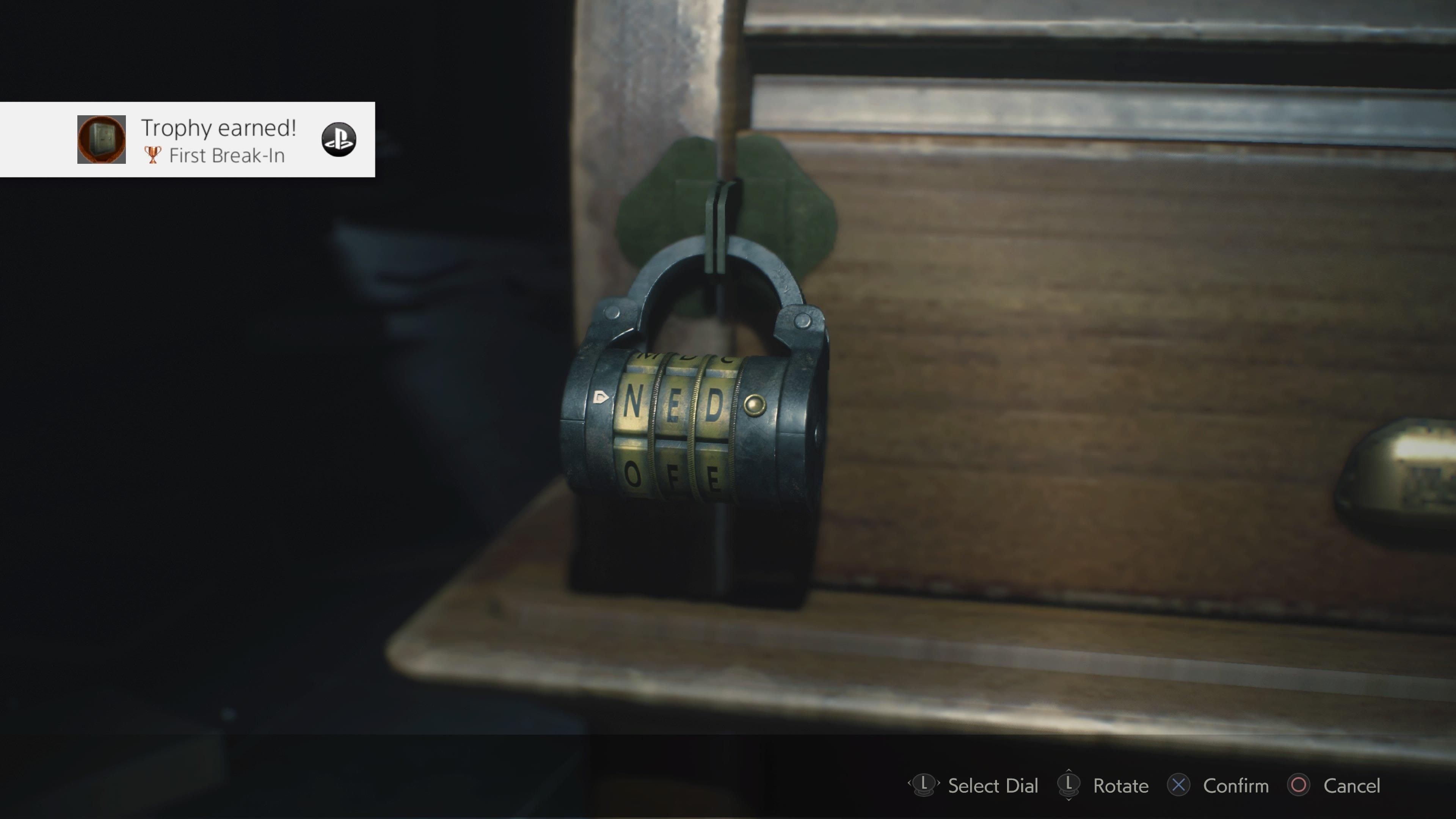 Leon's desk lock code solutions resident evil 2