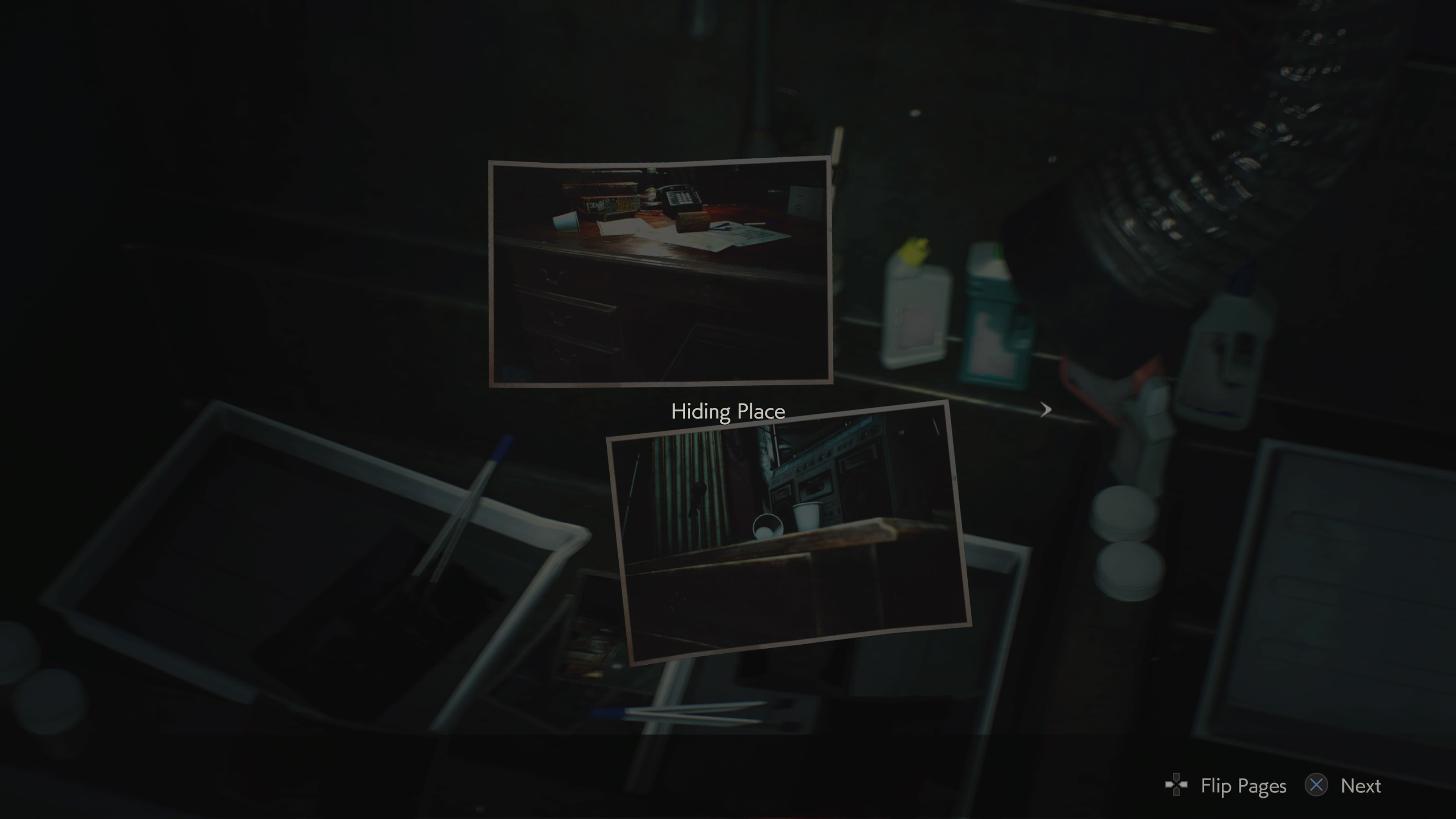 Hiding Place developed images for Resident Evil 2