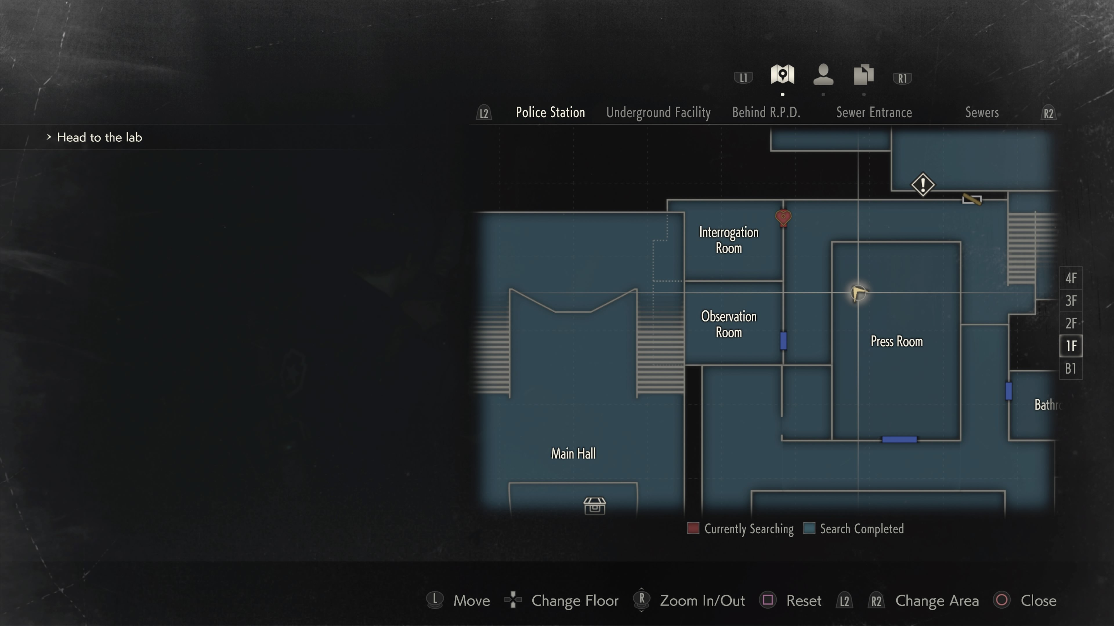 Hiding Place Film rooms in RE2
