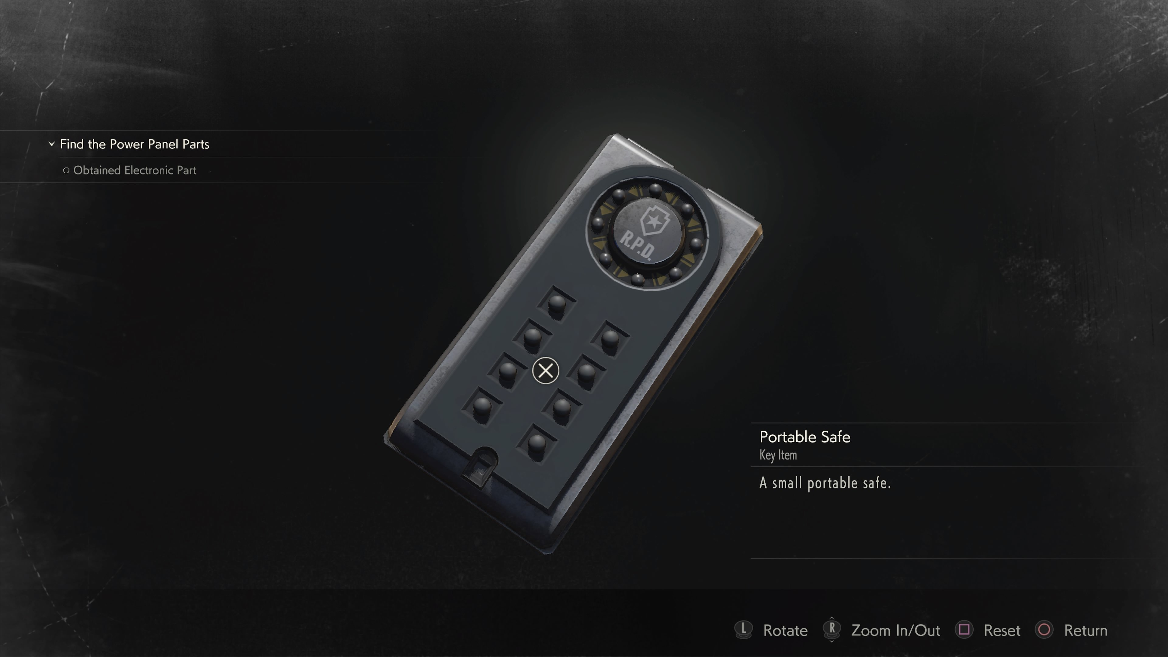 Portable Safe code answers Resident Evil 2