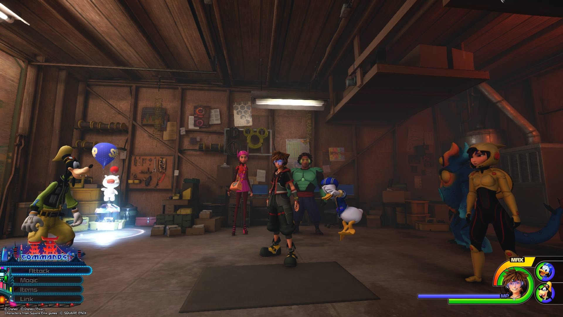 The first Lucky Emblem can be found in Hiro's garage.