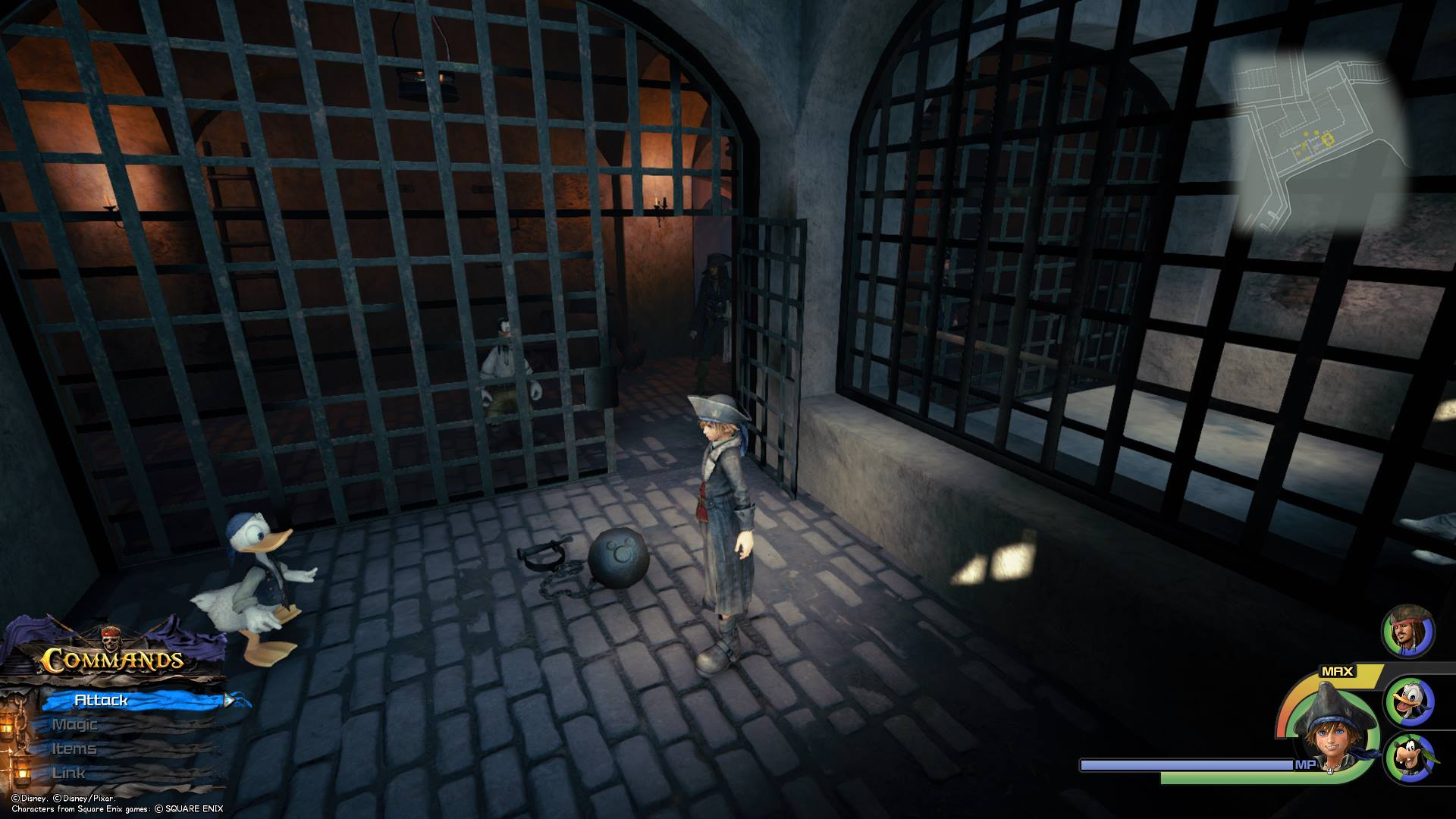 Enter the Fort and head down to the prison area to find the sixth Lucky Emblem on the side of a ball and chain.