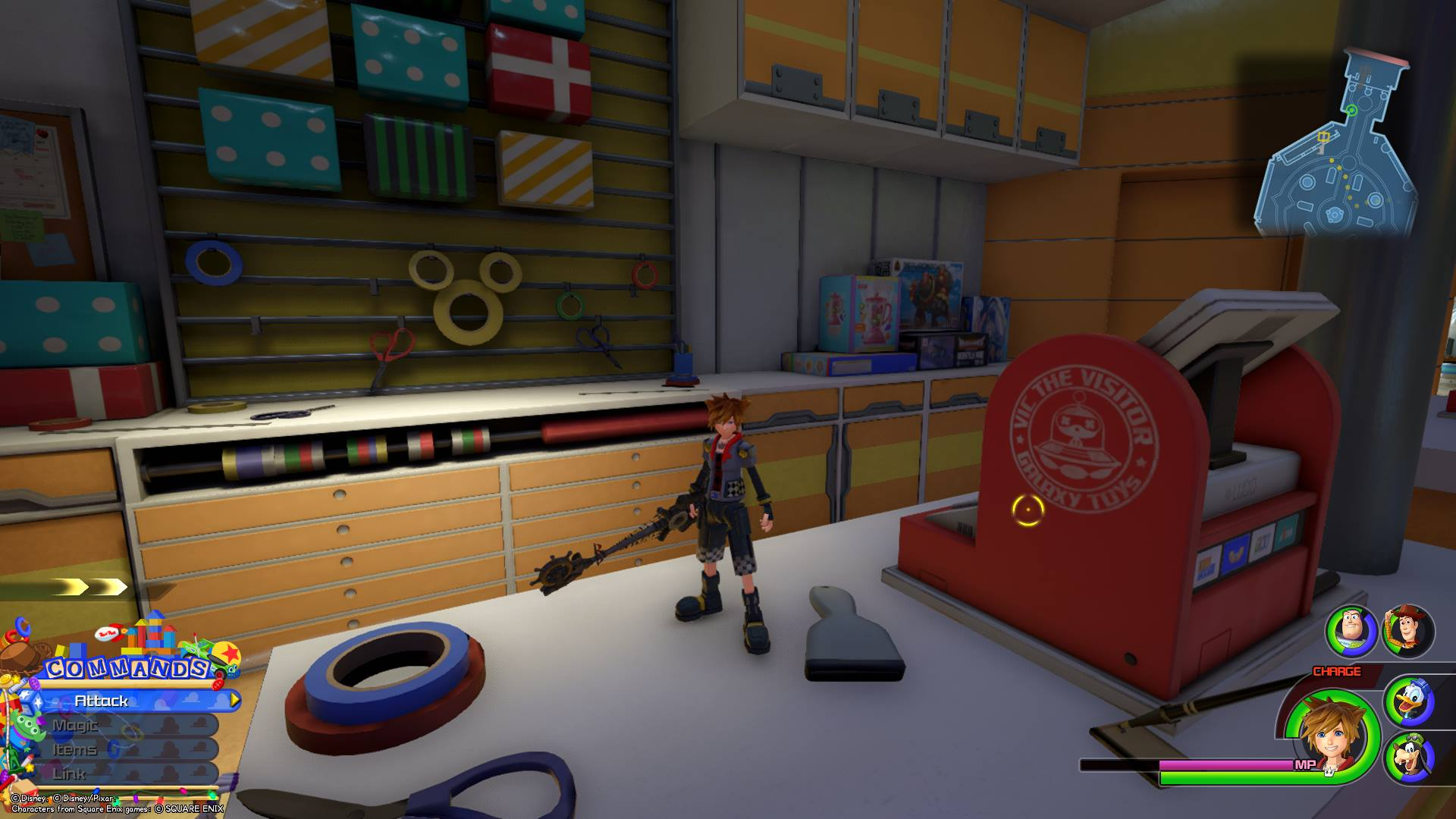 Emblem 6 - Toy Box Lucky Emblems in Kingdom Hearts 3