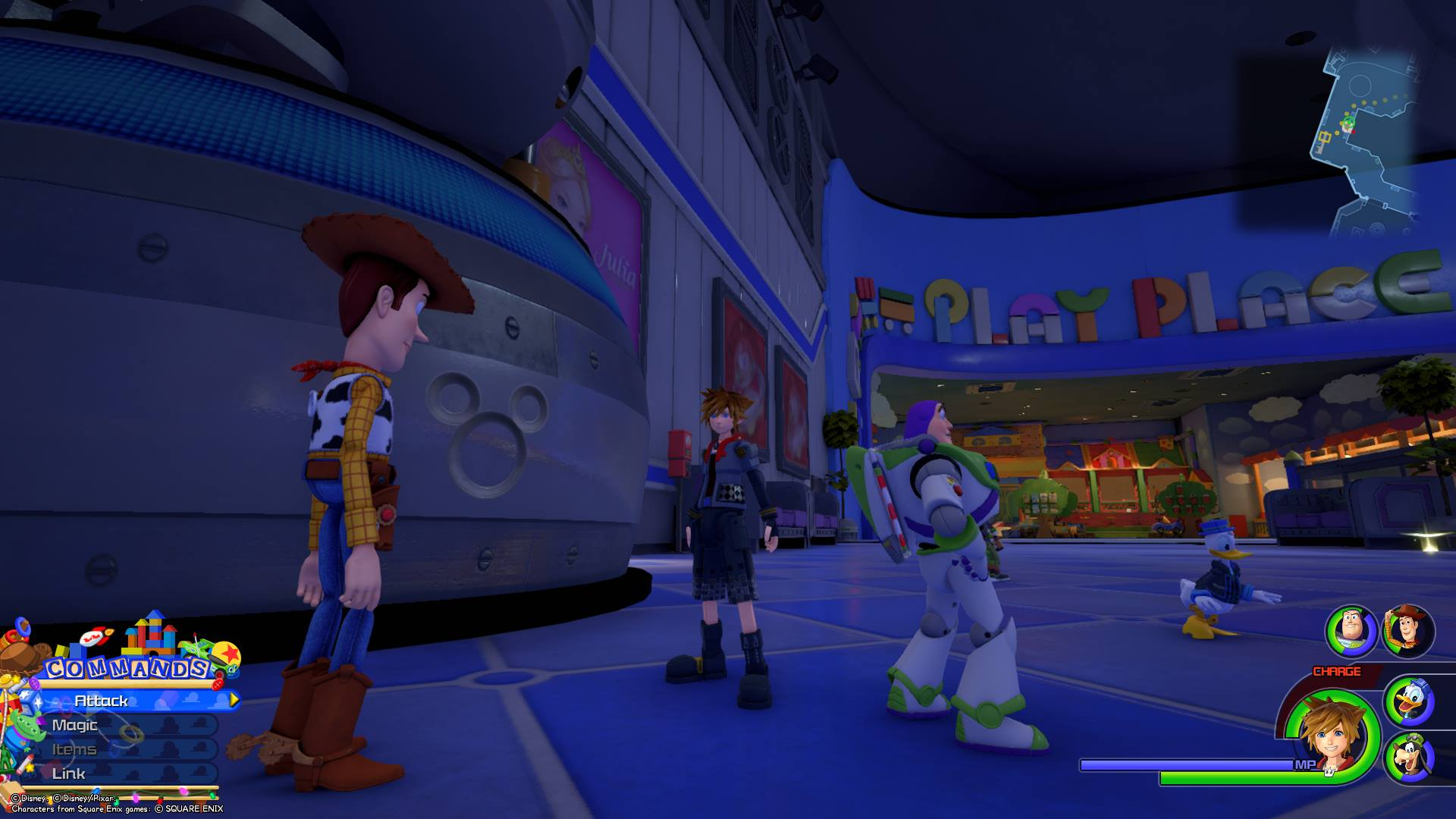 Emblem 8 - Lucky Emblem locations in Toy Box Kingdom Hearts 3