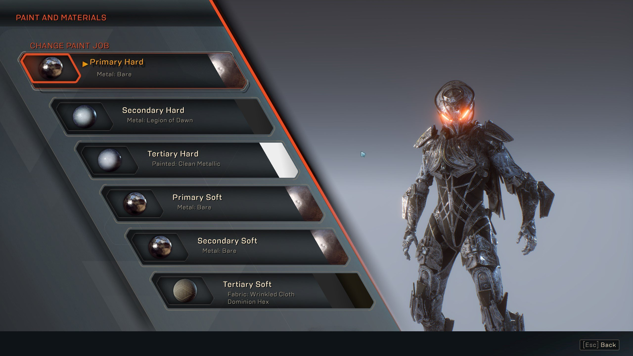 How to change Javelin appearance in Anthem