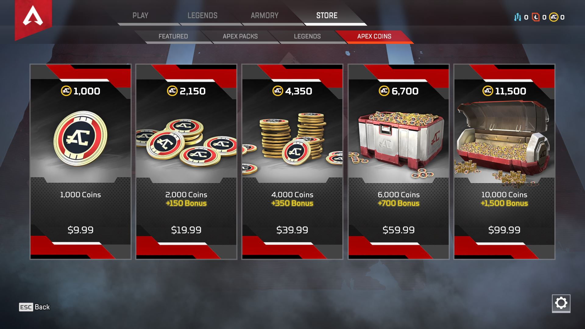 You can purchase Apex Coins in exchange for real money in Apex Legends.