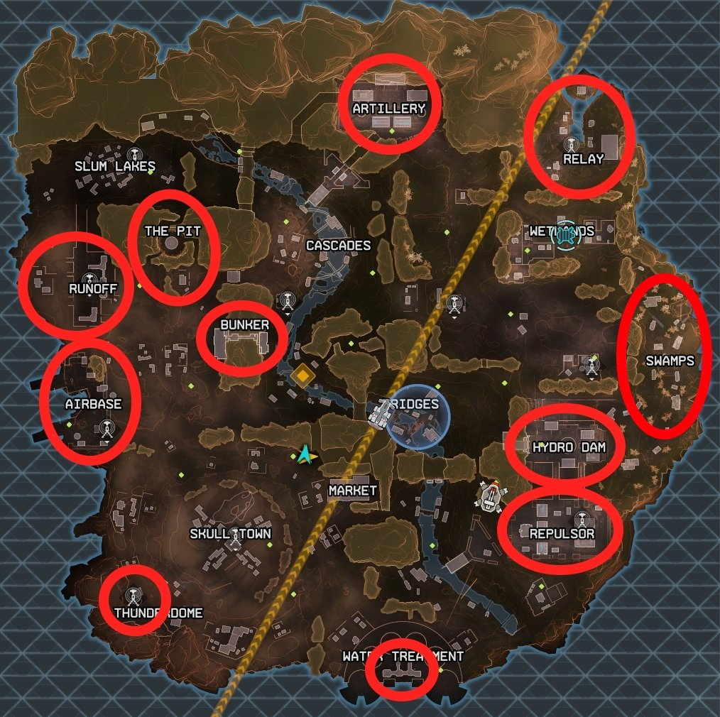 Where to drop and find the best loot in Apex Legends