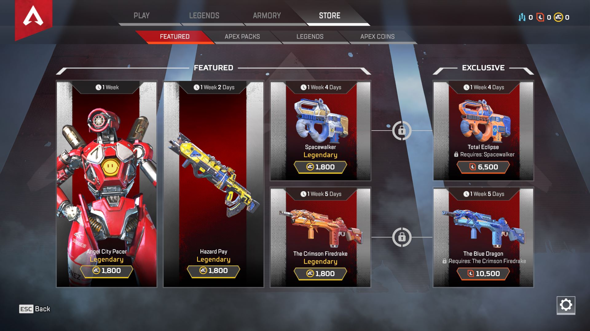 There are a variety of different microtransaction options available in Apex Legends.