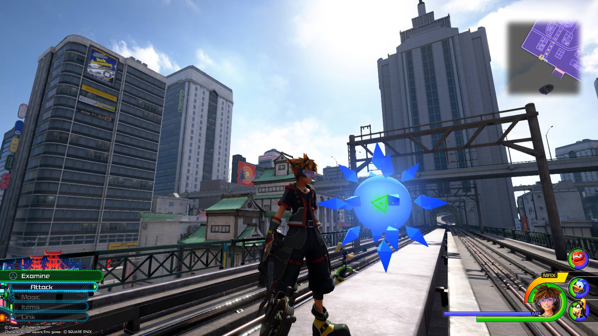 The eleventh Battlegate in Kingdom Hearts 3 can be found in the North District area of San Fransokyo.