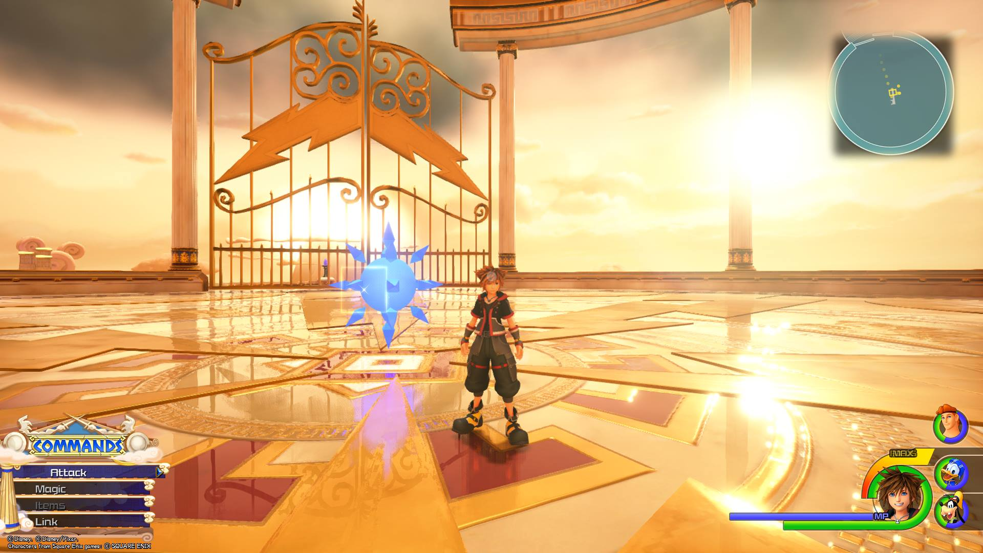 The second Battlegate in Kingdom Hearts 3 is located in the Apex area of Olympus.