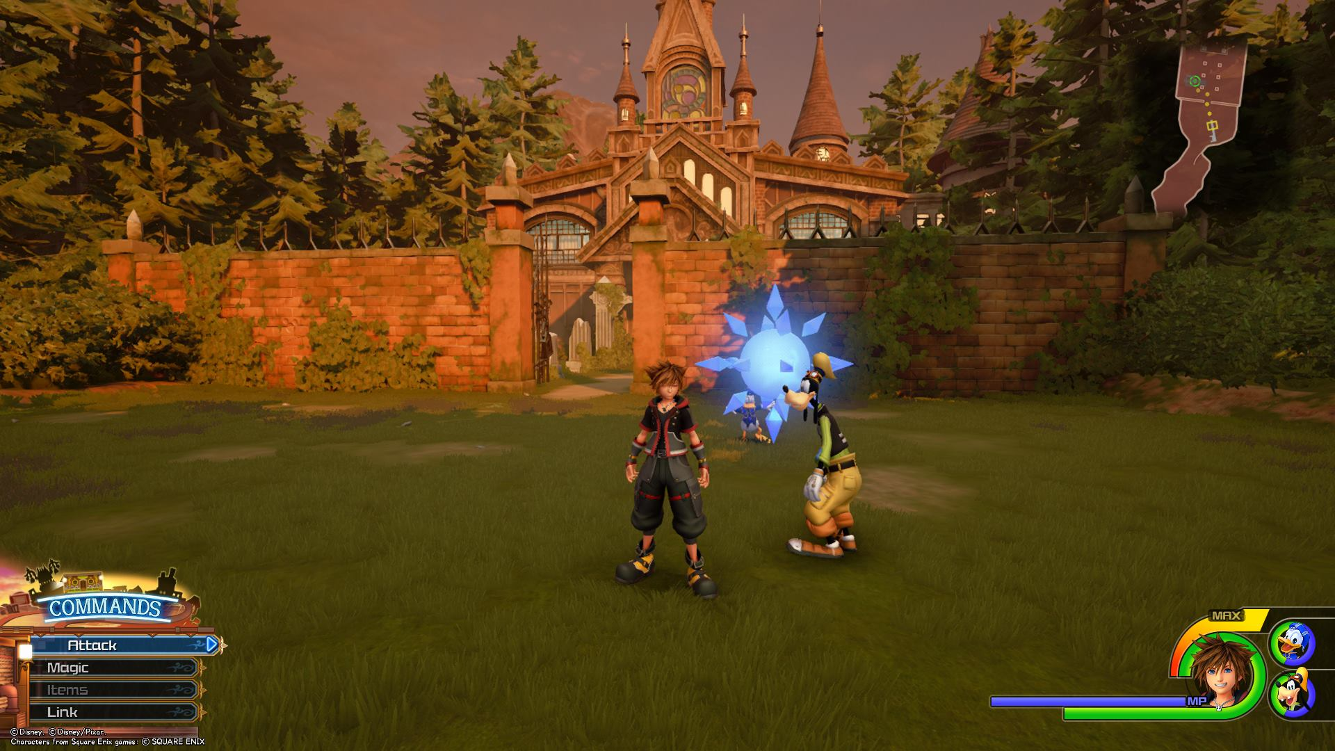 The third Battlegate in Kingdom Hearts 3 is located in the Old Mansion area of Twilight Town.