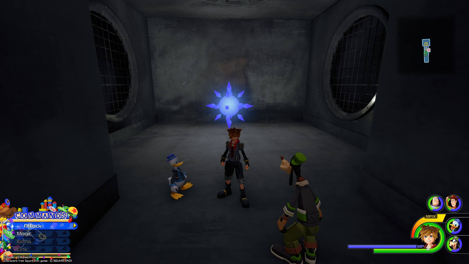 The fourth Battlegate in Kingdom Hearts 3 is located in the Kid Korral area of Toy Box.