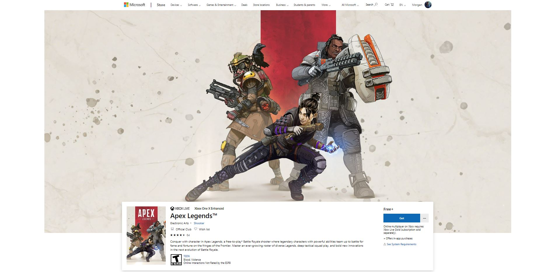 You can download Apex Legends via the Microsoft Store on PC or through your Xbox One.