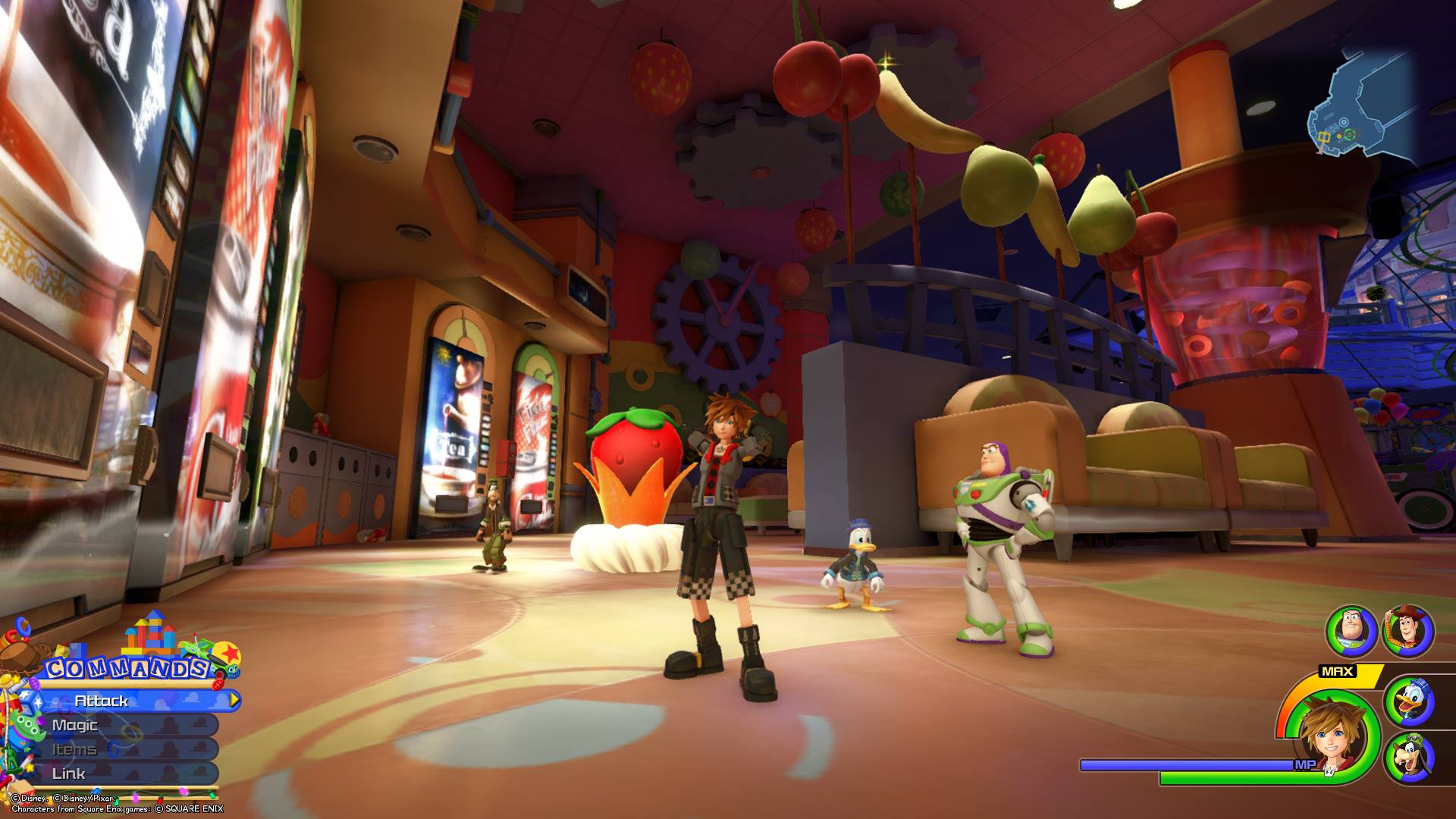 The second Flantastic Seven member can be found in the Rest Stop area of Galaxy Toys in the Toy Box world of Kingdom Hearts 3.