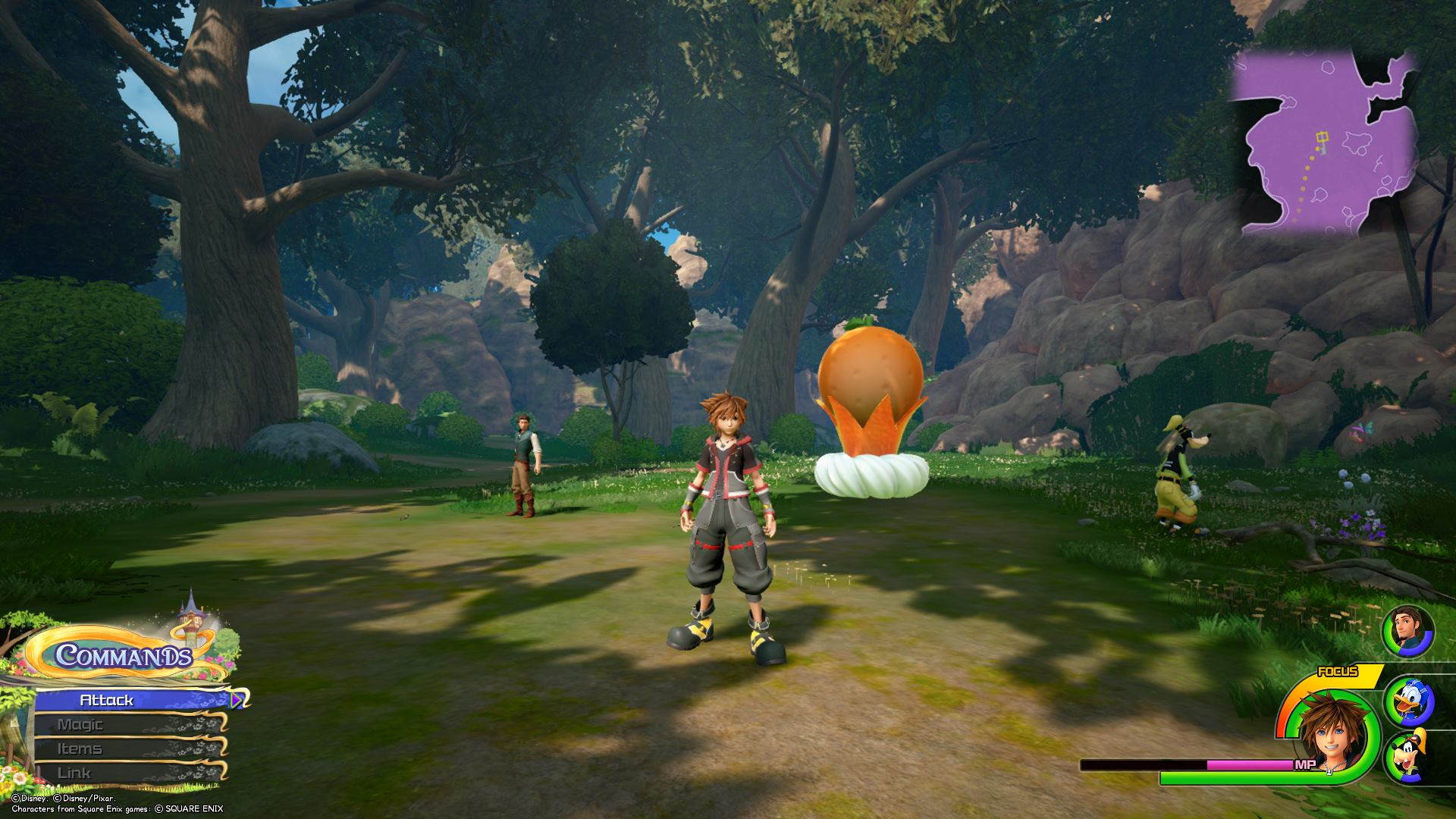 The third Flantastic Seven member can be found in the Hills area of the Forest in the Kingdom of Corona world of Kingdom Hearts 3.