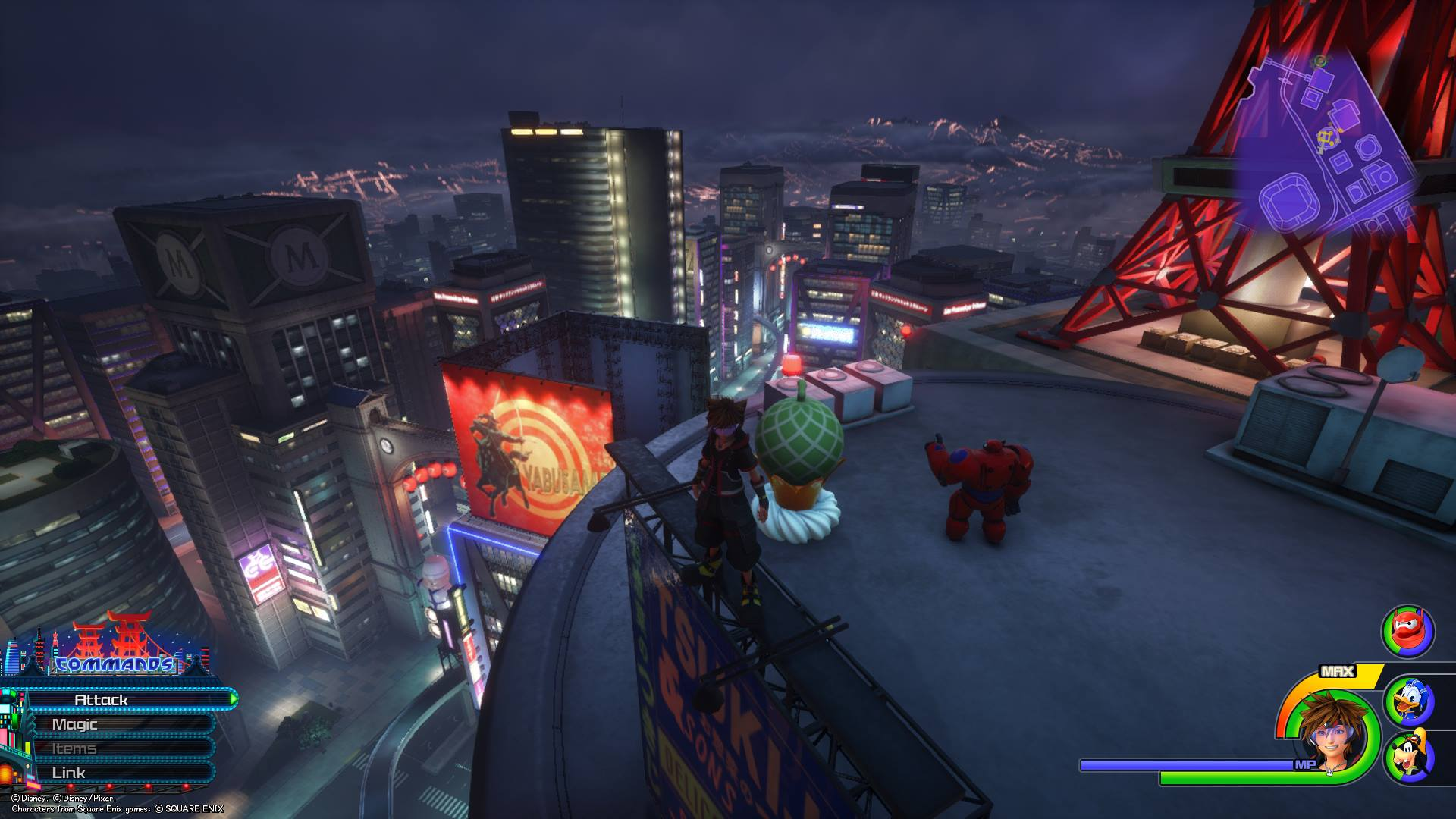 The seventh Flantastic Seven member can be found in the South District area of the City at night in the San Fransokyo world of Kingdom Hearts 3.