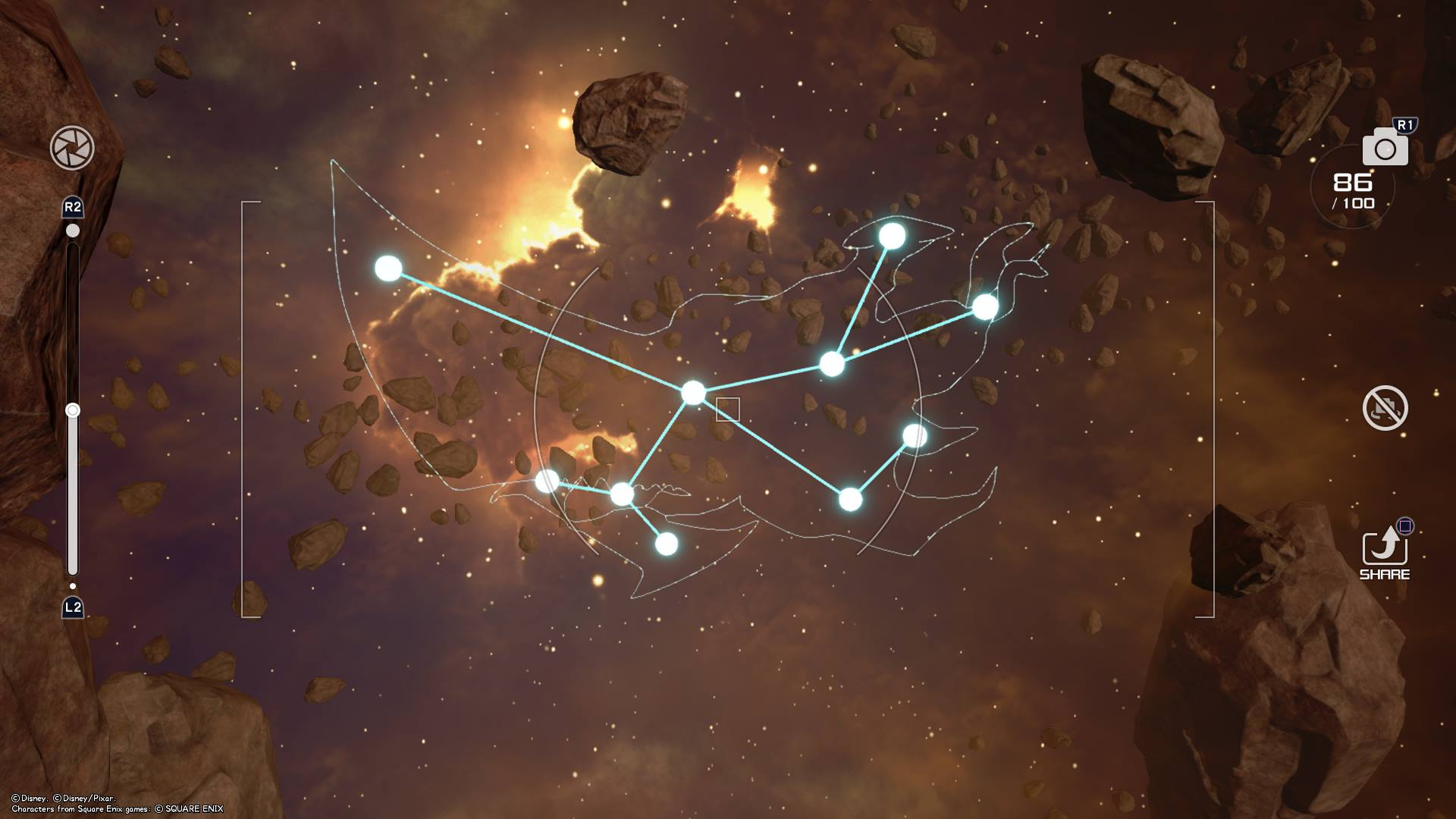 The Bismarck Constellation can be found by placing a marker on Waypoint ECL-01 and flying towards it while above the large ship in the Eclipse galaxy of Kingdom Hearts 3.