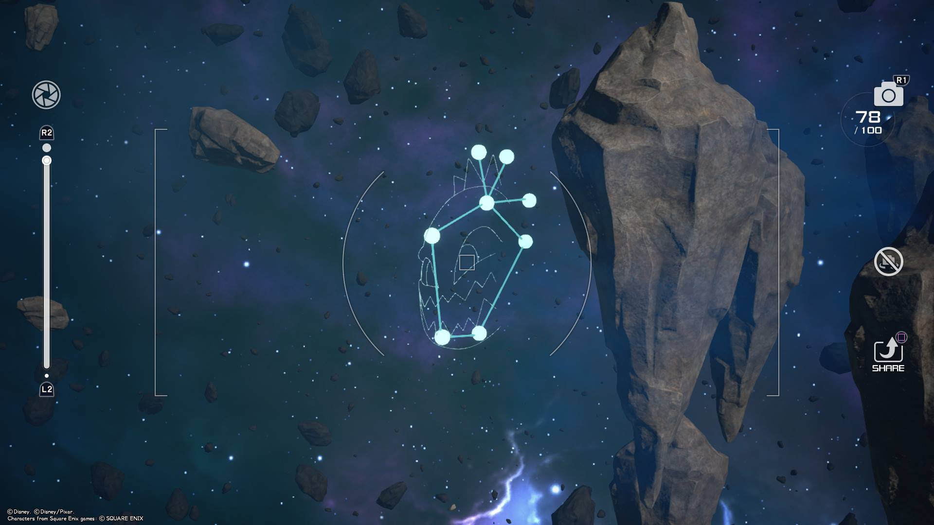 The Bomb Constellation is located near the Olympus world in the Starlight Way galaxy of Kingdom Hearts 3.