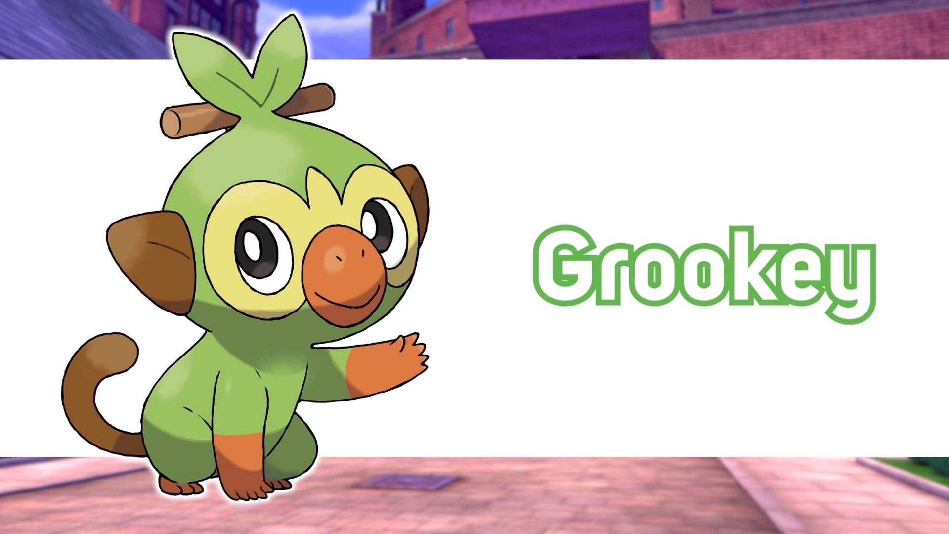 Pokemon Sword and Shield grass starter Grookey