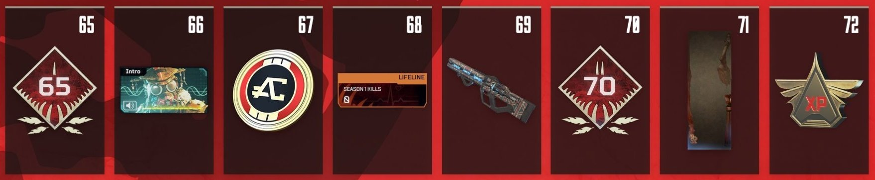 Apex Legends Battle Pass Rewards Levels 65-72