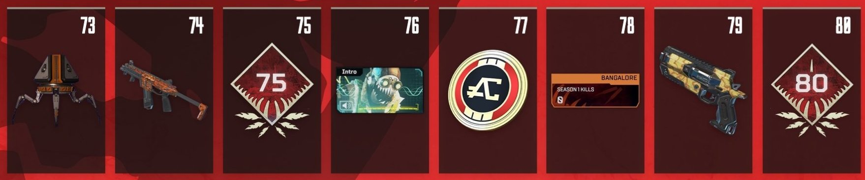 Apex Legends Battle Pass Rewards Levels 73-80