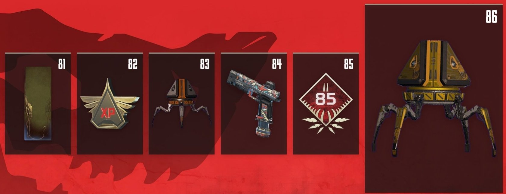 Apex Legends Battle Pass Rewards Levels 81-86