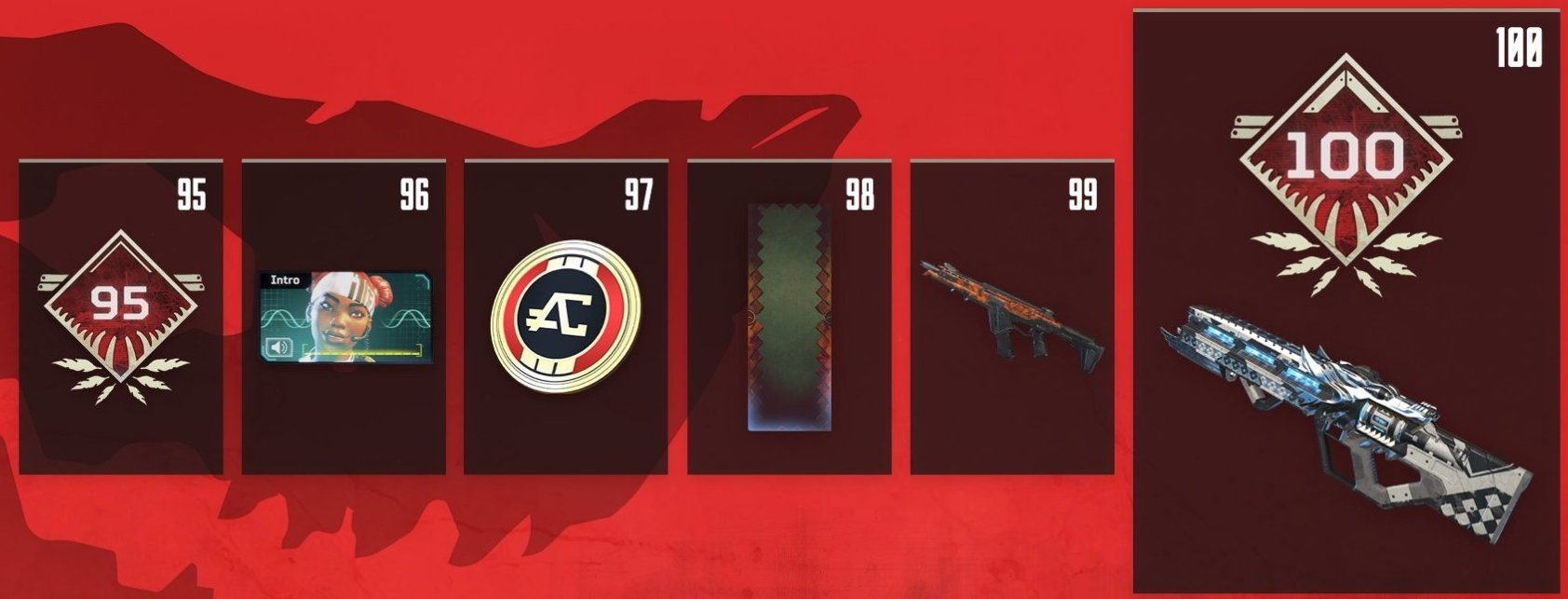 Apex Legends Battle Pass Rewards Levels 95-100