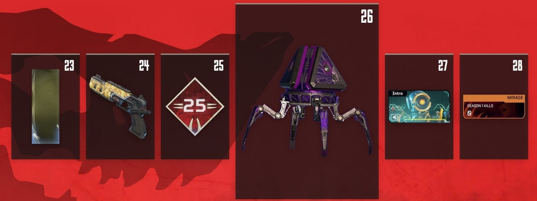 Apex Legends Battle Pass Rewards Levels 23-28