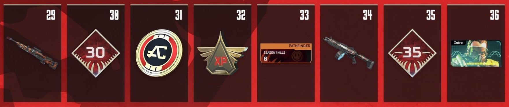 Apex Legends Battle Pass Rewards Levels 29-36