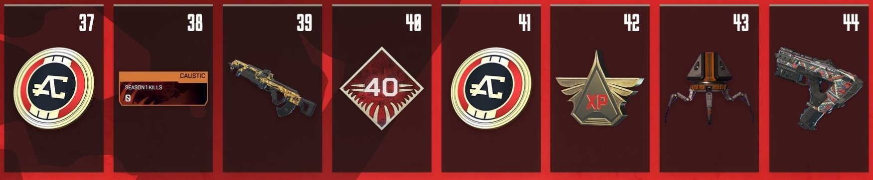 Apex Legends Battle Pass Rewards Levels 30-44