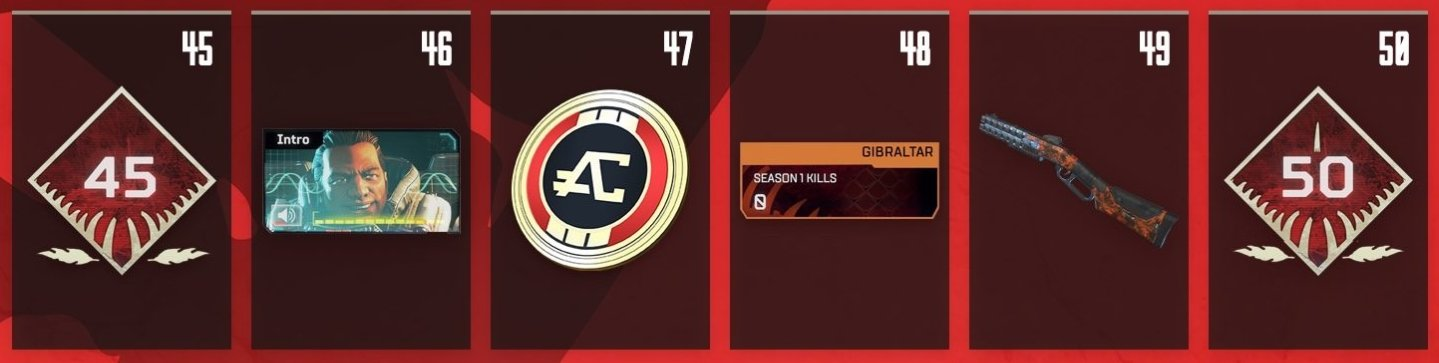 Apex Legends Battle Pass Rewards Levels 45-50