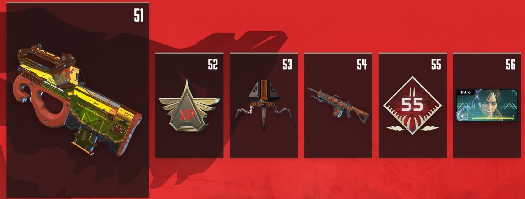 Apex Legends Battle Pass Rewards Levels 51-56