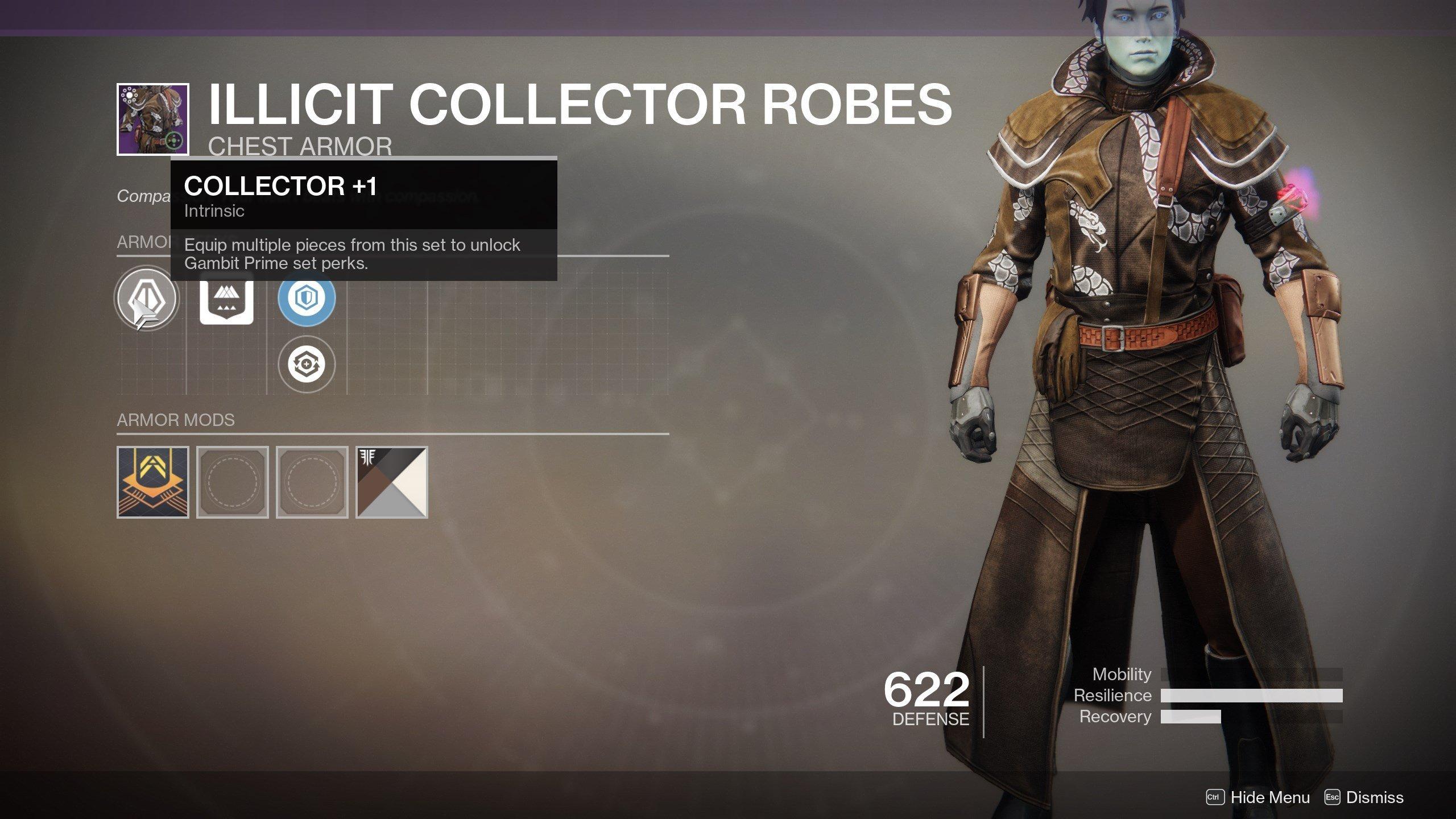 Gambit Prime Armor Perks