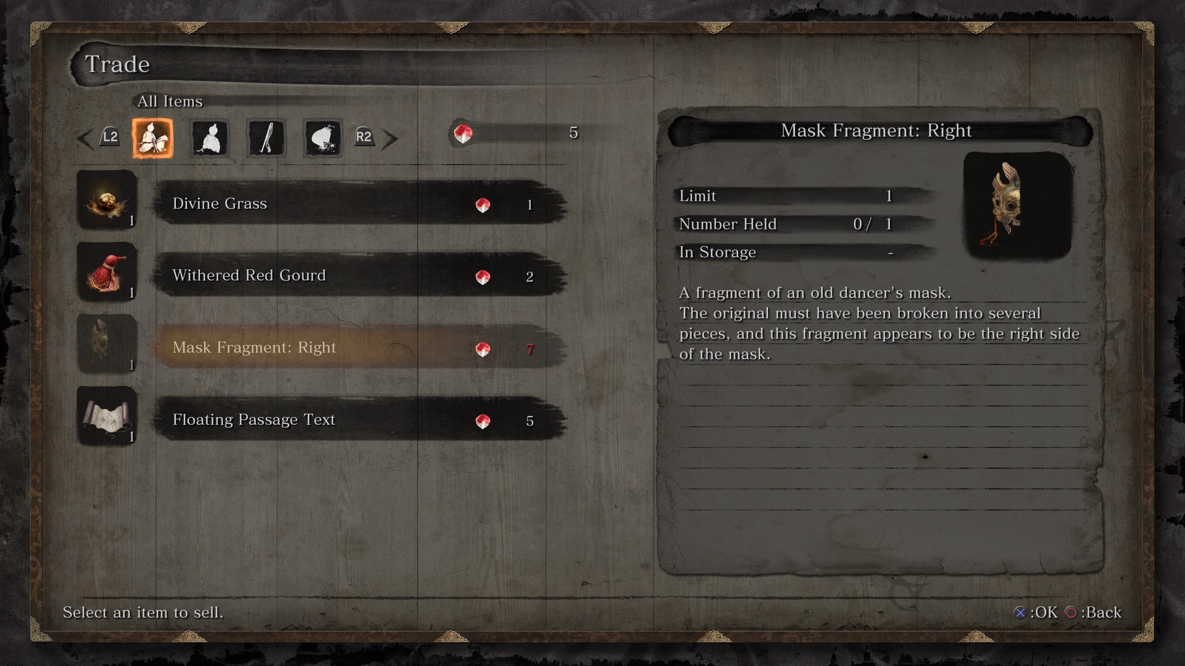 Mask Fragments use guide for Sekiro: Shadows Die Twice