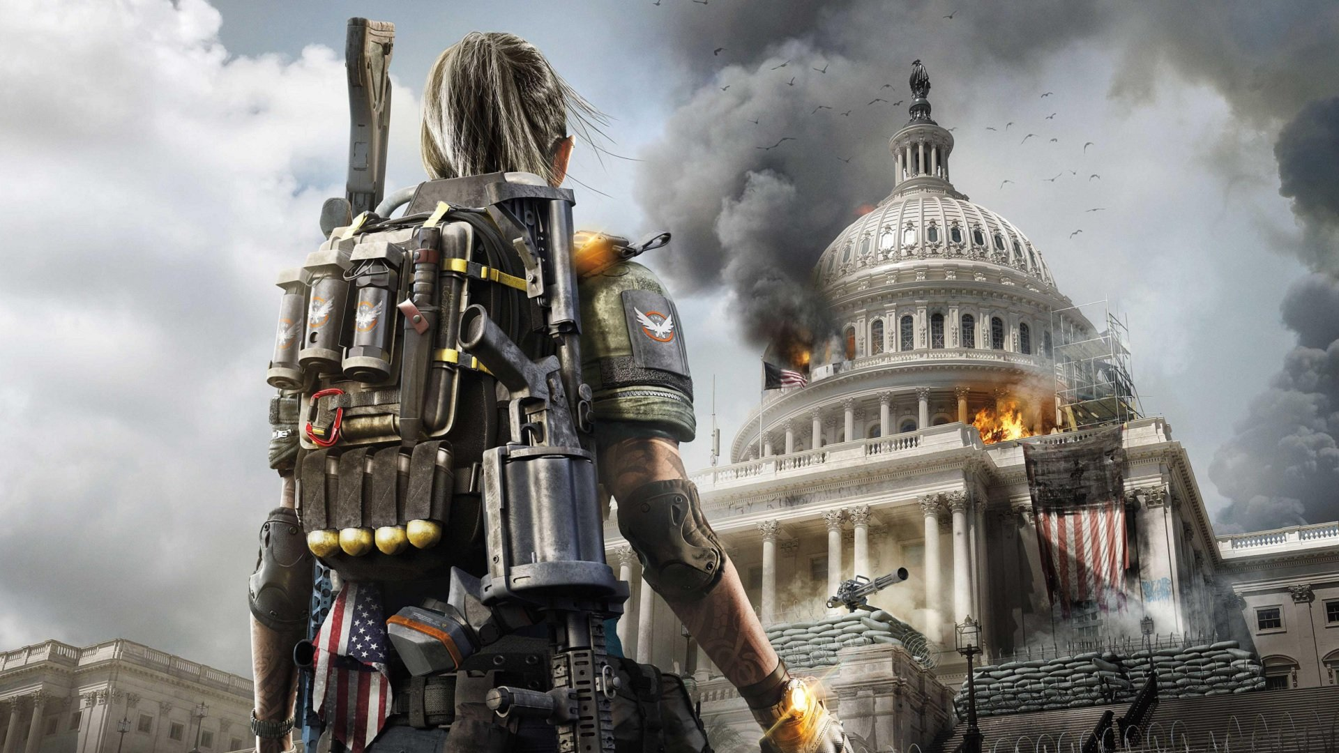 You can skip past cutscenes in Tom Clancy's The Division 2 by pressing and holding Square on PS4, X on Xbox One, or E/F on PC.