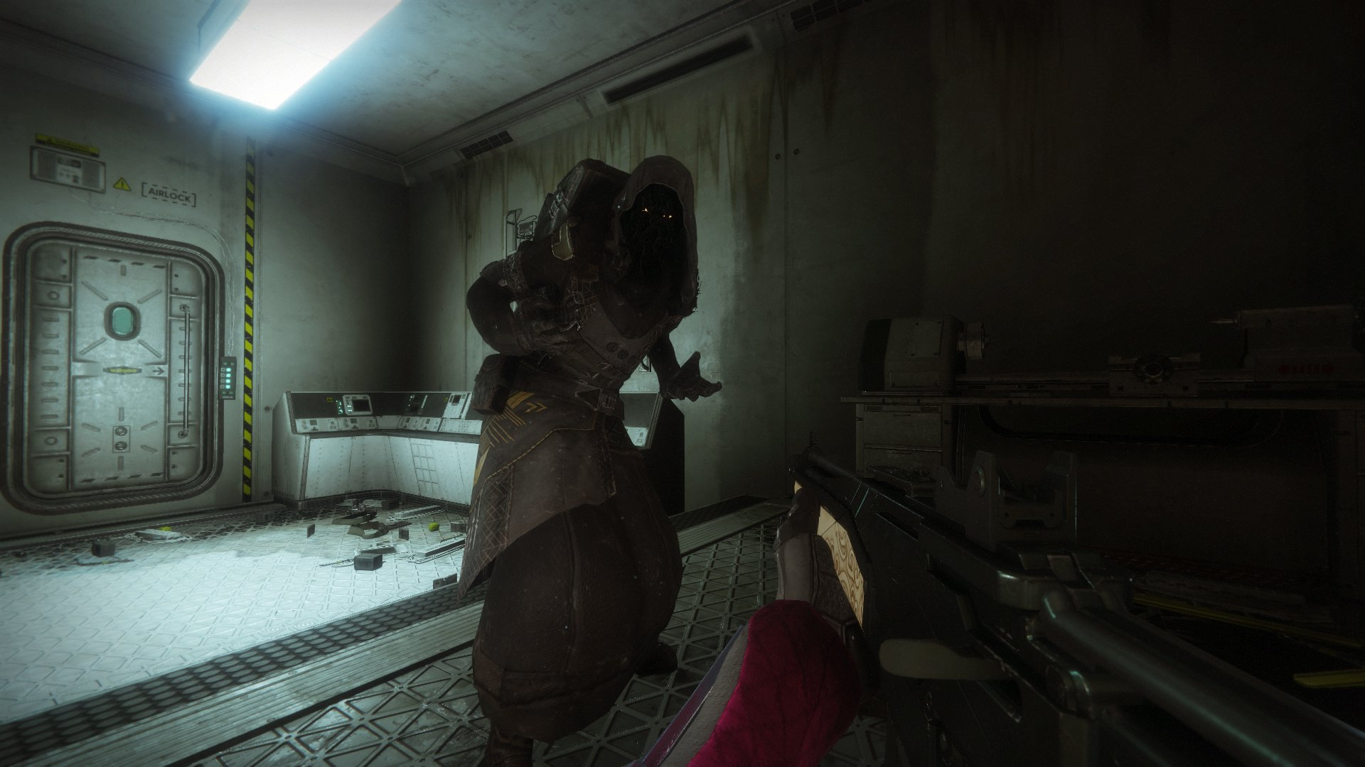 During the week of April 26 in Destiny 2, Xur can be found inside The Rig area on Titan.